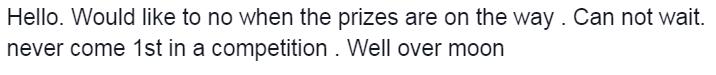 Daryl Paul Walker Facebook Competition Winner