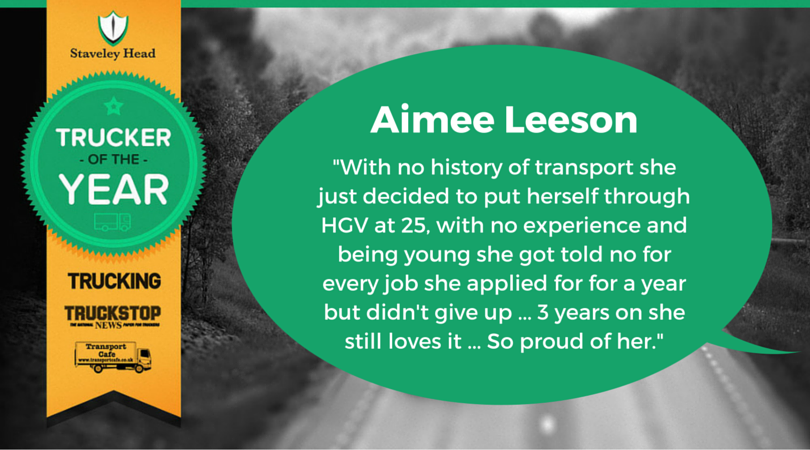 Aimee Leeson Facebook Nomination
