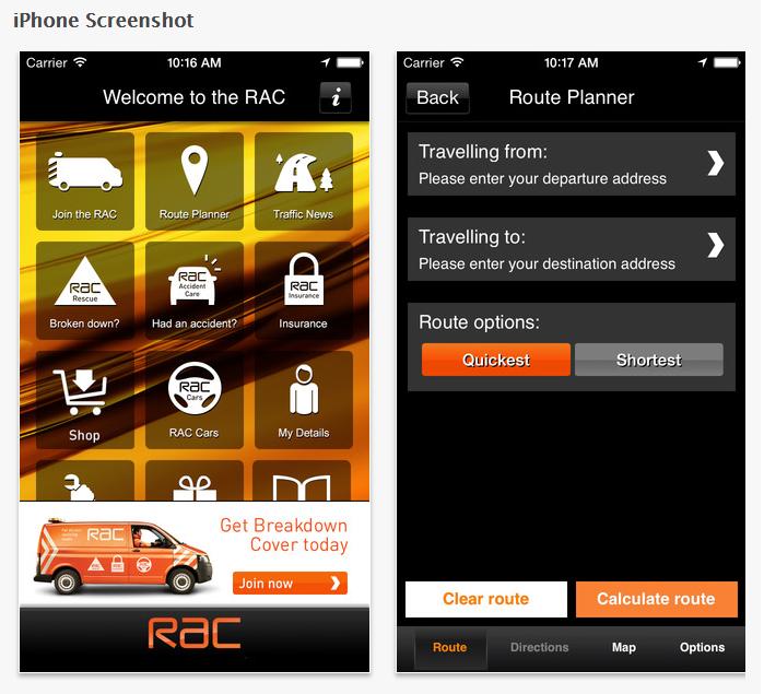 RAC traffic app