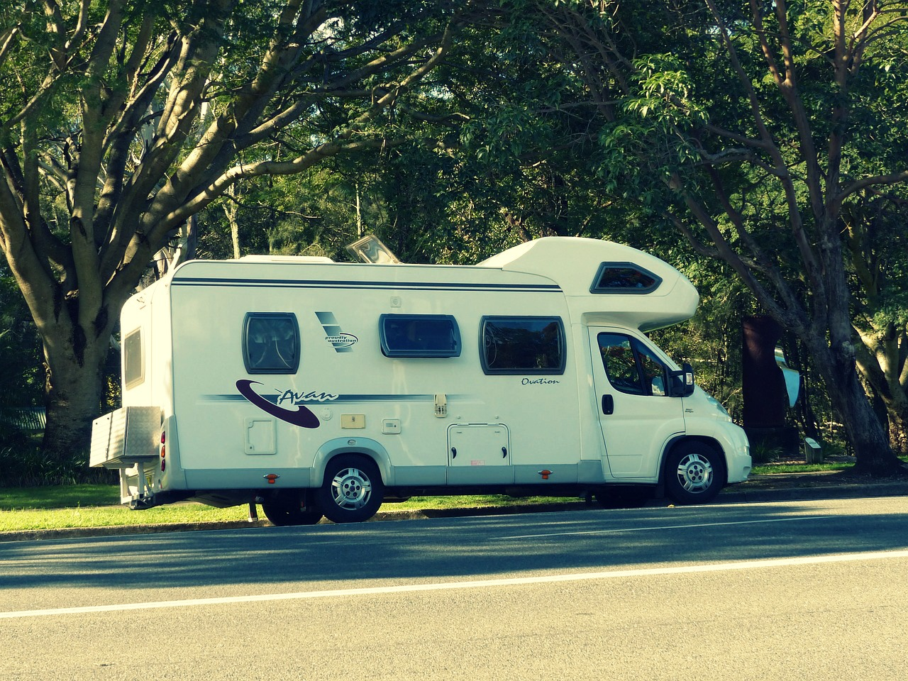 Motorhome on the move